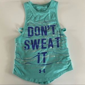 Girls Under Armour Tank Top Blue Size XS